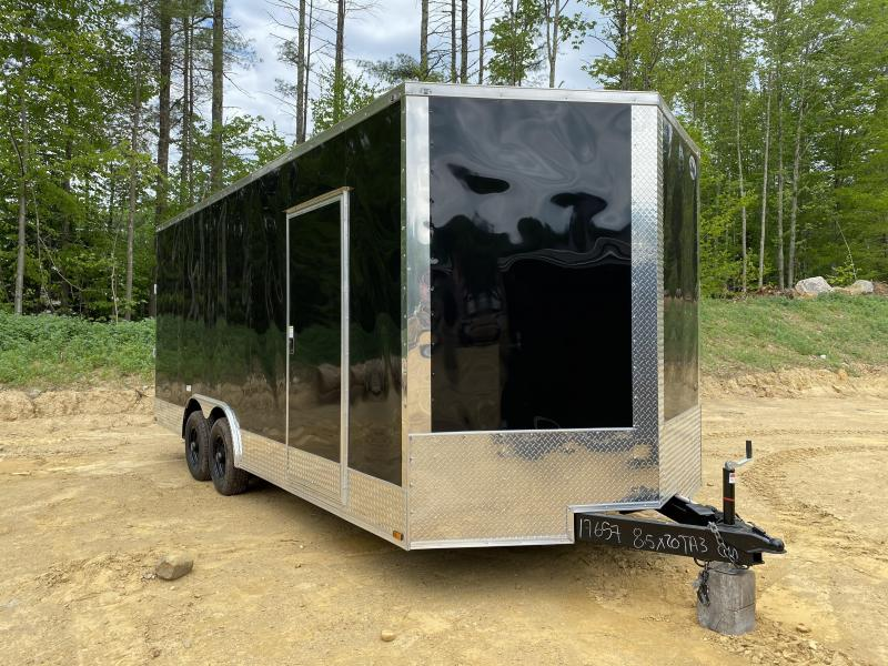 2020 Quality Cargo 8.5X20 EXTRA HEIGHT REAR RAMP Enclosed Cargo Trailer