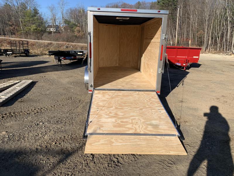 2020 Freedom Trailers 6x12 silver rear ramp Enclosed Cargo Trailer