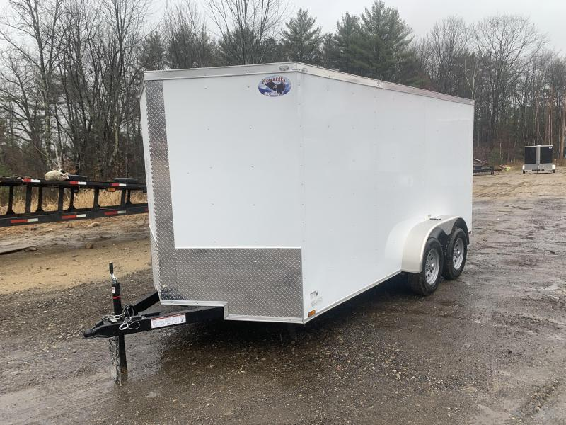 2020 Quality Cargo 7x14 Rear Ramp BRAKES Enclosed Cargo Trailer