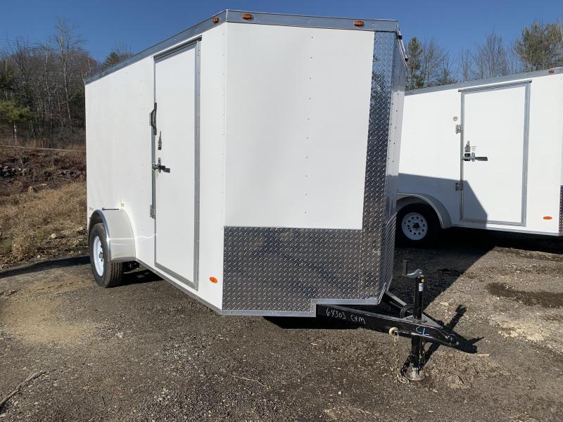 2020 Freedom Trailers 6x12 white rear ramp Enclosed Cargo Trailer