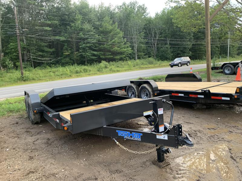 2019 Top Hat Trailers 7x20 14K GVW Gravity tilt deck Equipment Trailer