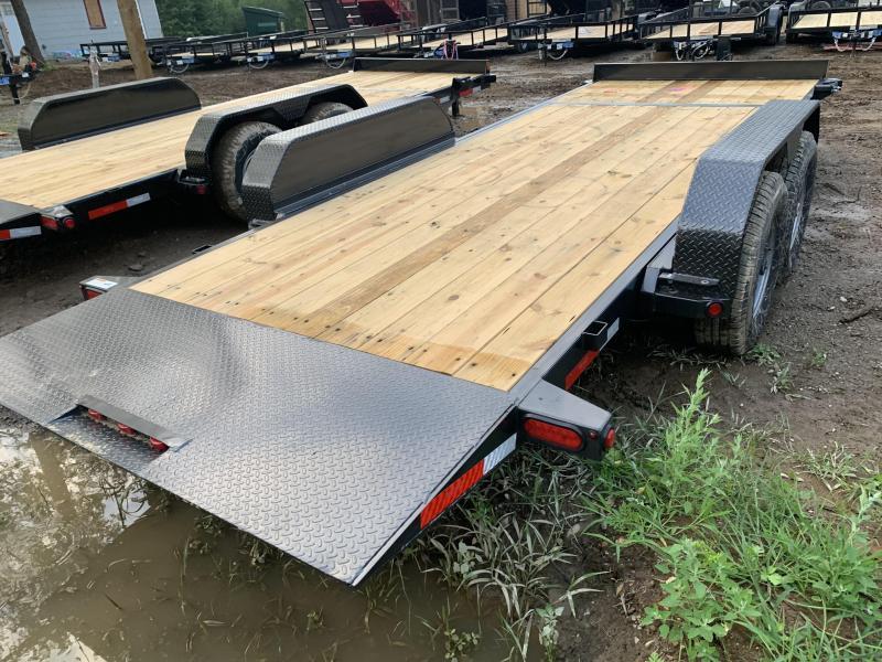 2019 Top Hat Trailers 7x20 14K GVW Gravity tilt deck Equipment Trailer