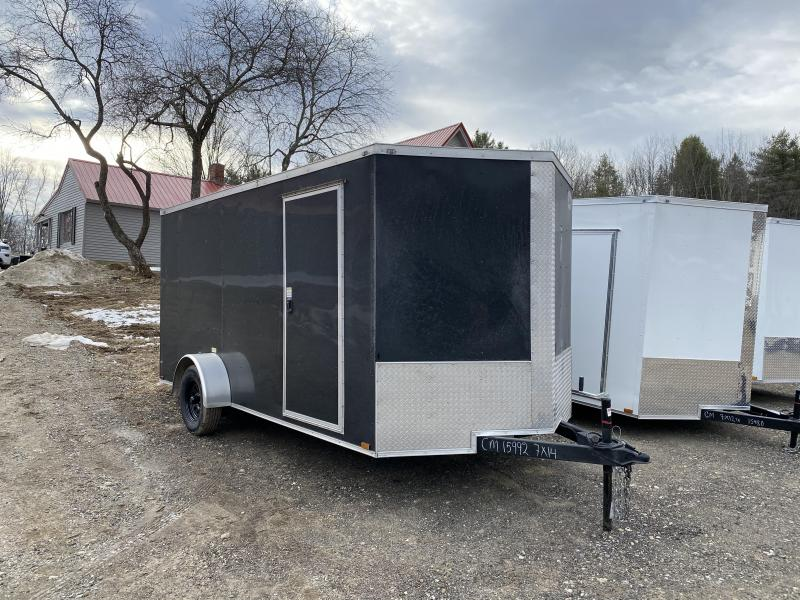 2020 Quality Cargo 7x14SA BLACK ON BLACK Enclosed Cargo Trailer