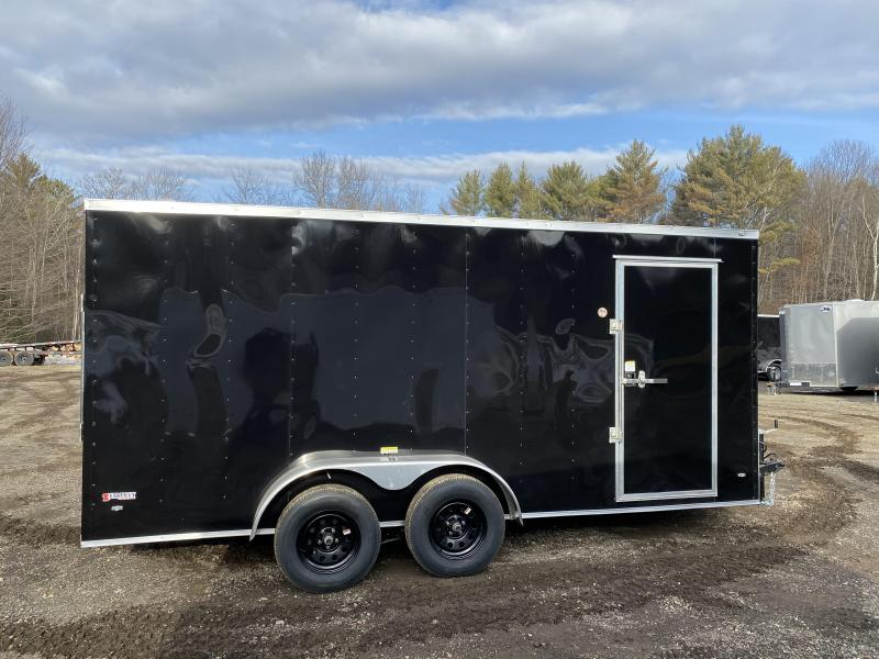 2020 Freedom Trailers 7x16 BLACK ON BLACK 6INCHES EXTRA HEIGHT Enclosed Cargo Trailer