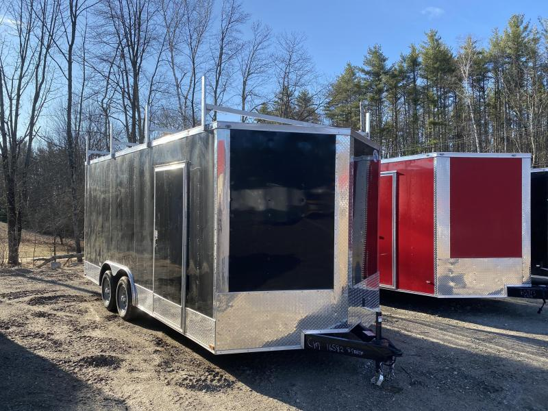 2020 Quality Cargo 8.5x18 WALK ON ROOF PACKAGE & EXTRA HEIGHT Enclosed Cargo Trailer