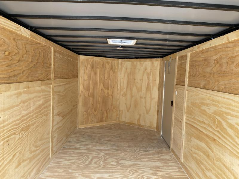 2020 Freedom Trailers 7X14 RAMP BLACK ON BLACK Enclosed Cargo Trailer