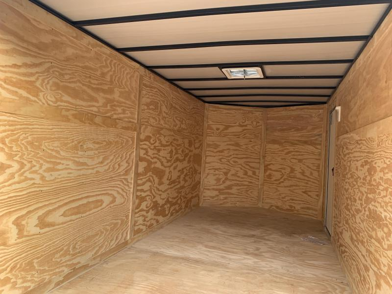 2020 Quality Cargo 7x14 black rear ramp Enclosed Cargo Trailer