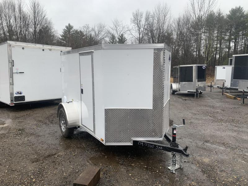 2020 Quality Cargo 5X8 DOUBLE DOORS & SIDE DOOR Enclosed Cargo Trailer