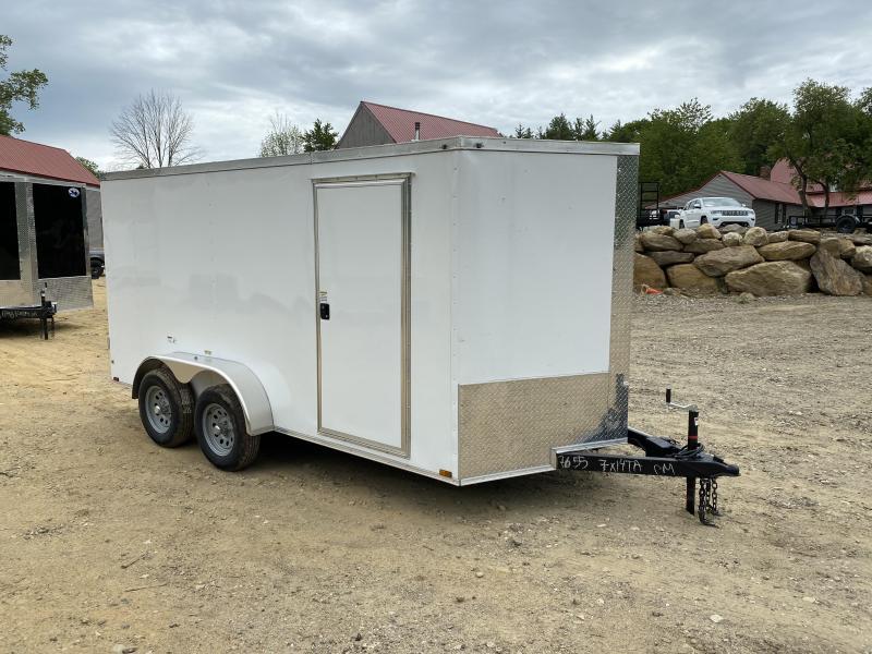2020 Quality Cargo 7X14 DUAL AXLE DOUBLE DOORS Enclosed Cargo Trailer