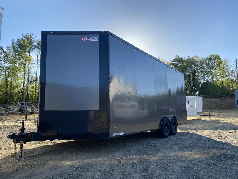 2020 Freedom Trailers 8.5X20 EXTRA HEIGHT CHARCOAL BLACKOUT Enclosed Cargo Trailer