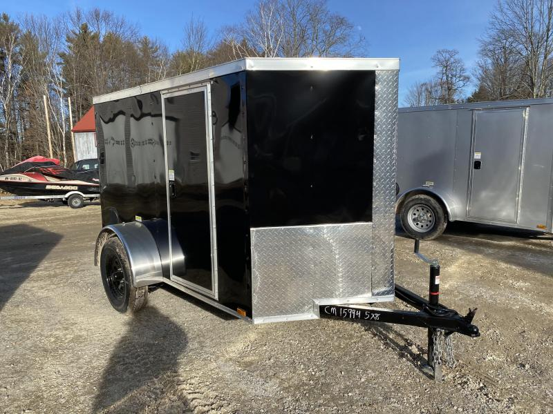 2020 Quality Cargo 5x8 rear ramp & side door BLACK ON BLACK Enclosed Cargo Trailer