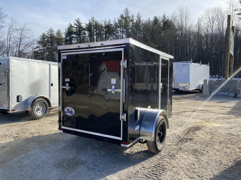 2020 Quality Cargo 5x8 rear ramp & side door BLACK ON BLACK Enclosed Cargo Trailer
