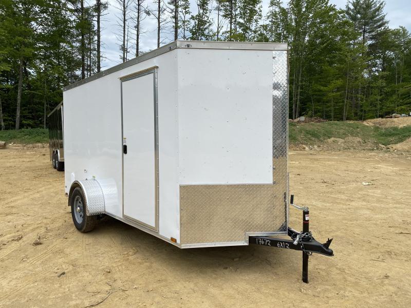 2020 Quality Cargo 6X12 REAR RAMP Enclosed Cargo Trailer