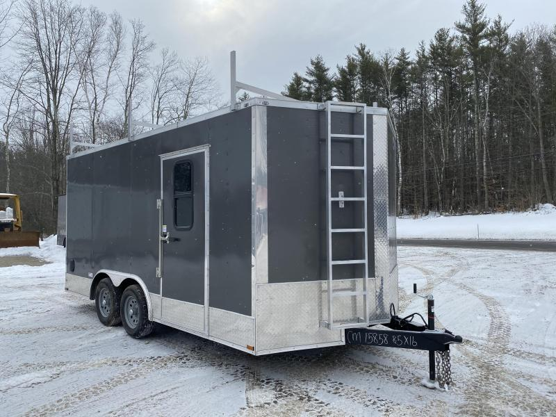 2020 Quality Cargo 8.5x16 WALK ON ROOF/WINDOWS/TORSION AXLES Enclosed Cargo Trailer