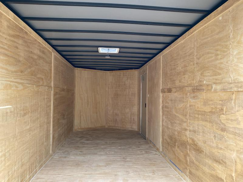 2020 Freedom Trailers 7x16 EXTRA HEIGHT/DOUBLE DOORS/LADDER RACKS Enclosed Cargo Trailer