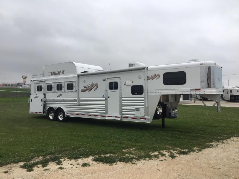2020 Platinum Coach 4 Horse Side Load 10.6 Short Wall Flip Down Bunk Horse Trailer