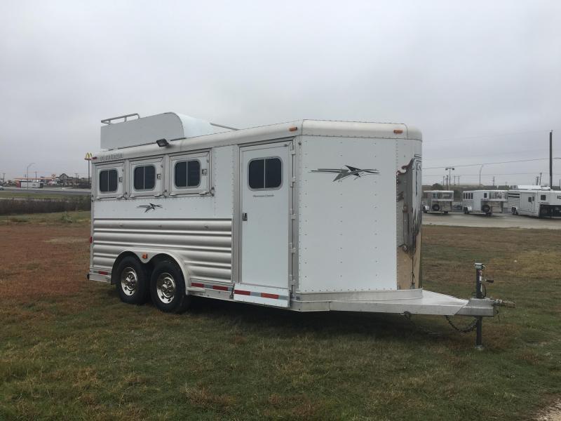 2013 Platinum Coach 3 Horse 8 Wide Bumper Pull Horse Trailer