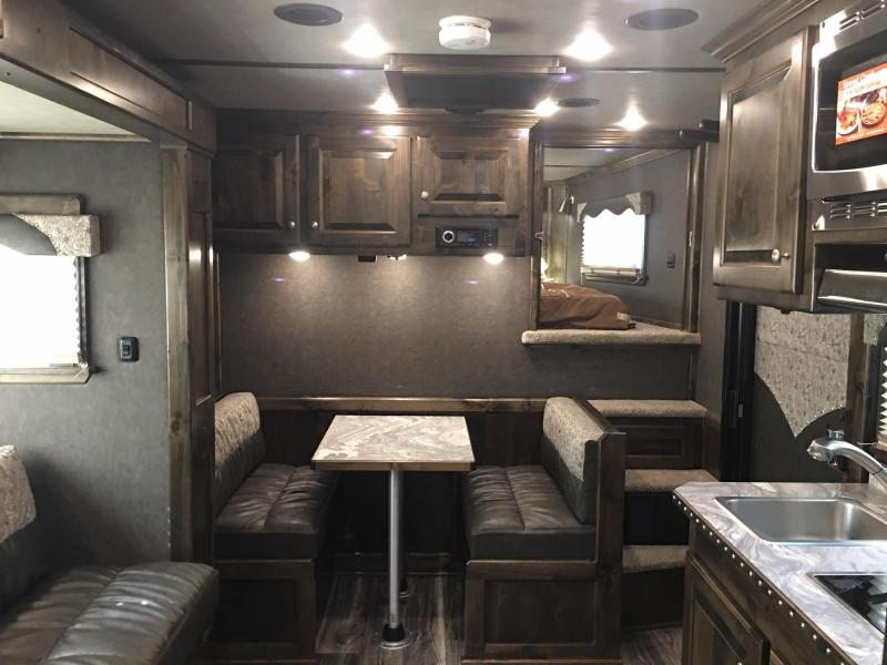 2020 Platinum Coach 5 Horse Side Load with 13.8 ft SW and Slide Horse Trailer