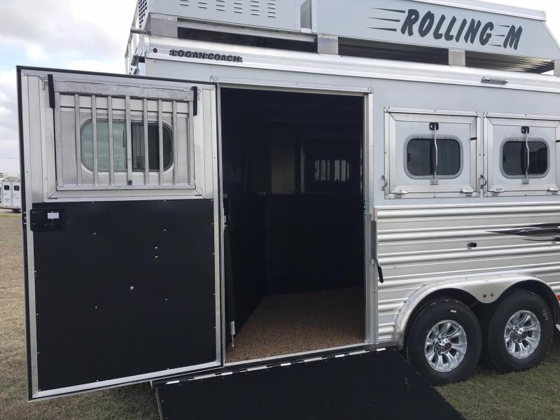 2020 Logan Coach 4 Horse Side Load 14 ft SW with a Slide Horse Trailer
