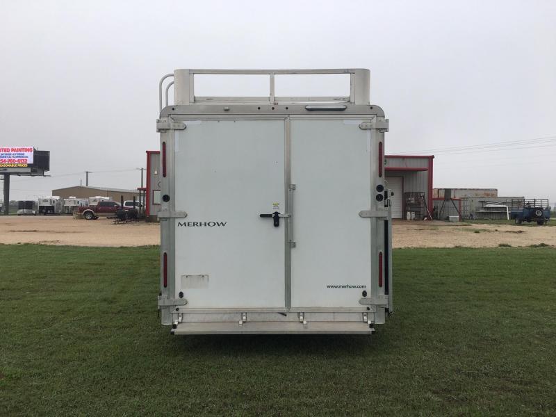 2017 Merhow Trailers 3 Horse 10 ft Short Wall Side Load Horse Trailer