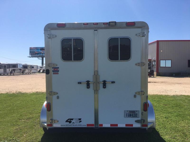 2015 4-Star Trailers 2 Horse Bumper Pull Horse Trailer