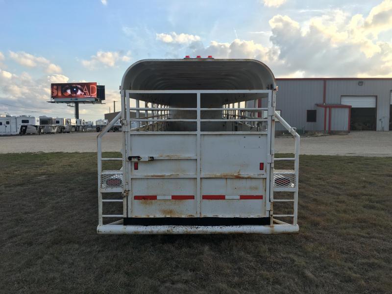 2005 Hughs 28 Ft Stock Combo Livestock Trailer