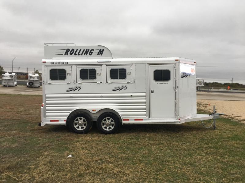 2020 Platinum Coach 3 Horse Bumper Pull Horse Trailer