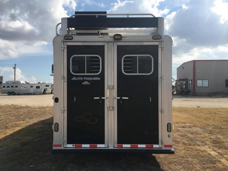 2010 Elite Trailers 3 Horse with 12 ft Short Wall Resistol Edition Horse Trailer