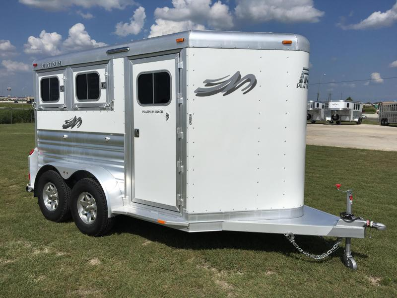 2018 Platinum Coach 2 Horse BP Horse Trailer