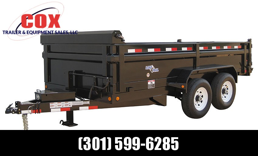 "2019 Load Trail 96"" X 14' Tandem Axle Pintle Hook Deck Over Dump Dump Trailer"