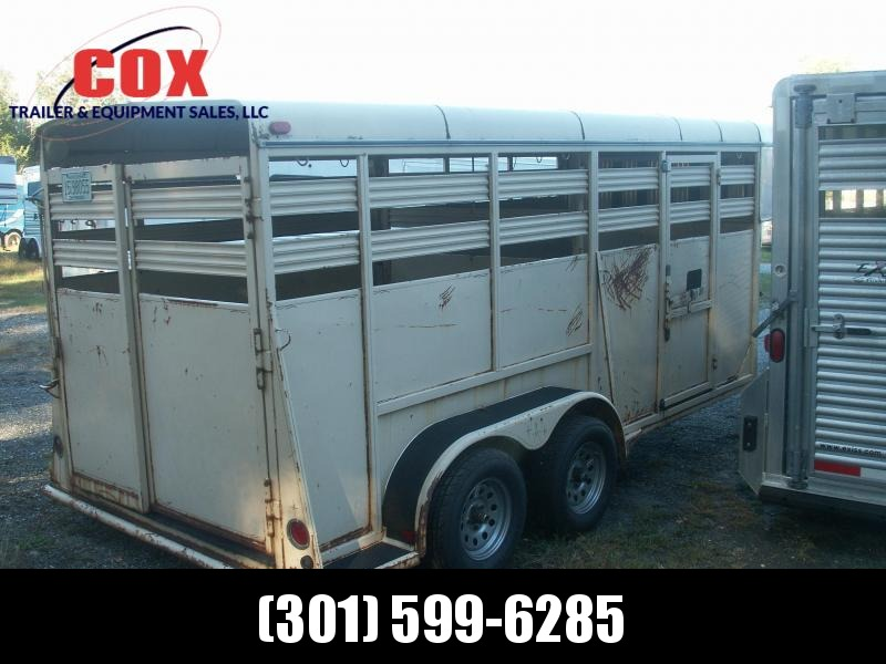 2001 Adam 16 GN STEEL STOCK TRAILER Livestock Trailer