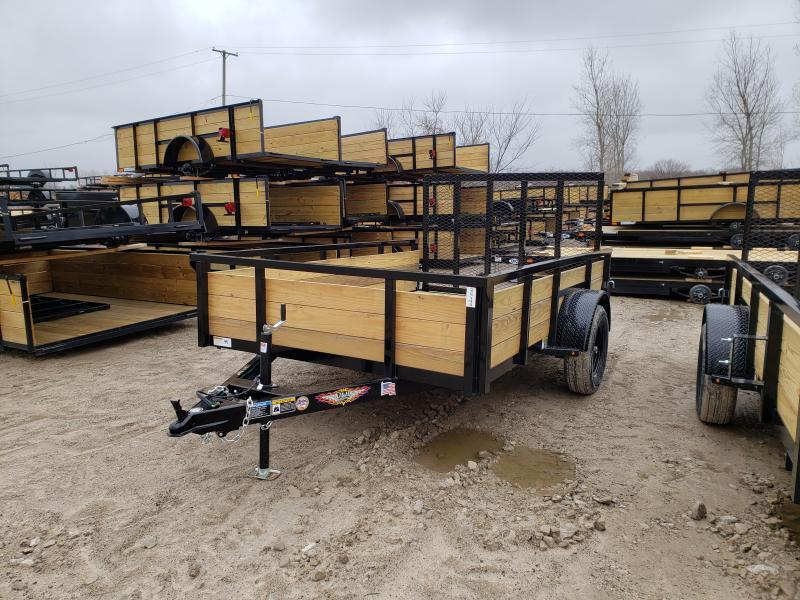 NEW 76X10 STEEL WOOD SIDE 3.5K LANDSCAPE TRAILER