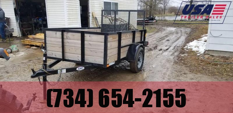2017 American Manufacturing Operations (AMO) 5x8 Woodside Landscape Utility Trailer