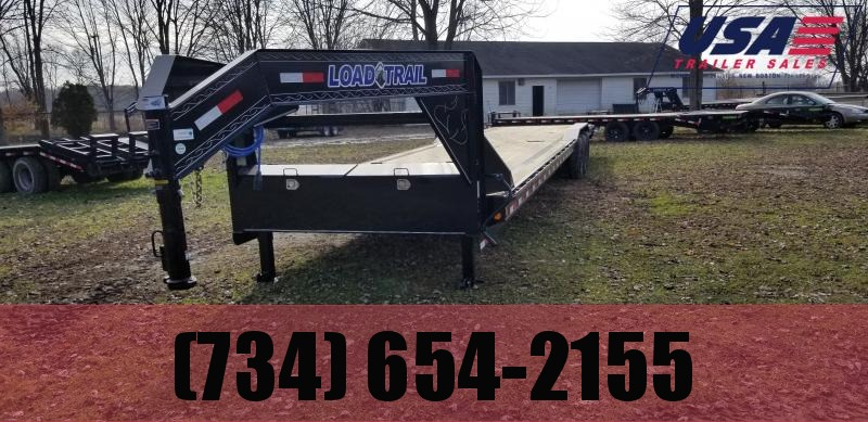 New 102x40 21K Gooseneck Low Deck  Carhauler Trailer