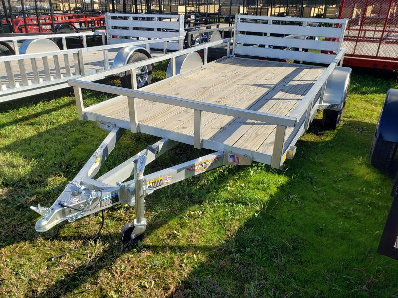2019 H and H Trailer 76X12 aluminum Landscape Utility Trailer