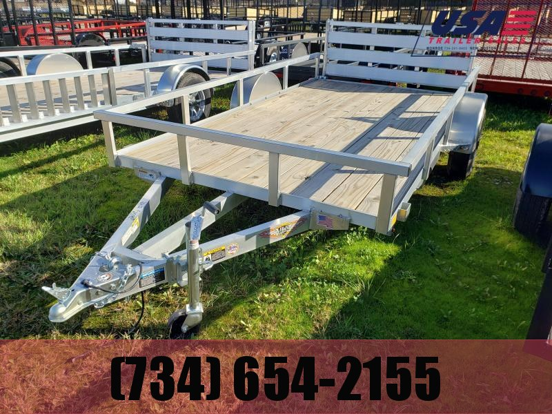 2019 H and H Trailer 76X12 aluminum Landscape Utility Trailer