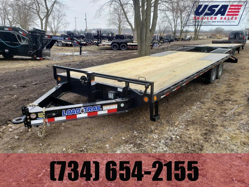 New 25' 10K Load Trail Deck over W/Self Clean Dove And Flip Over Ramps