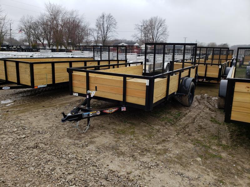 NEW 76X12 STEEL WOOD SIDE 3.5K LANDSCAPE TRAILER