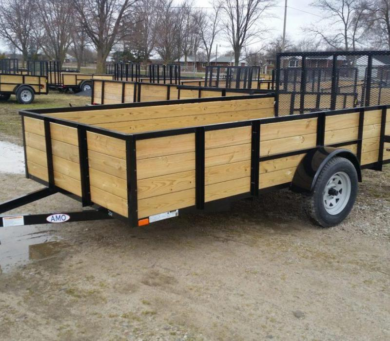 6.5 x 12 A.M.O. High Side Landscape Trailer