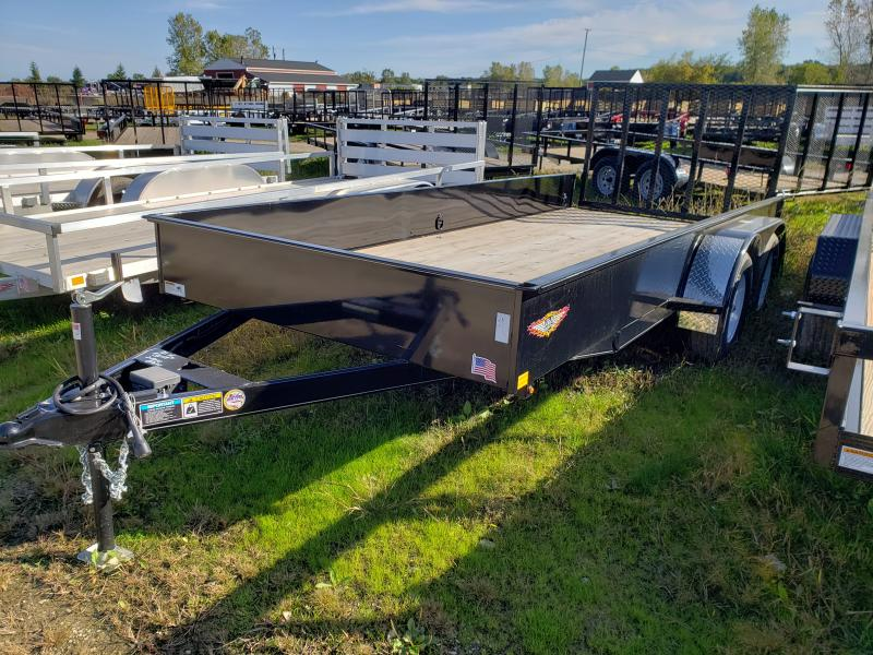 2019 H and H Trailer 16' STEEL SOLID SIDE LANDSCAPE TRAILER