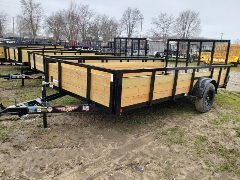 2020 H and H Trailer 8.5X14 STEEL WOOD SIDE 3.5K