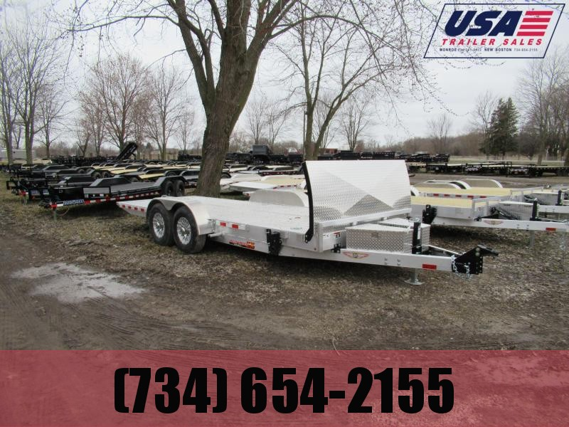 2020 H and H Trailer New H&H 20' 14k Tilt Bed Car Hauler Car / Racing Trailer