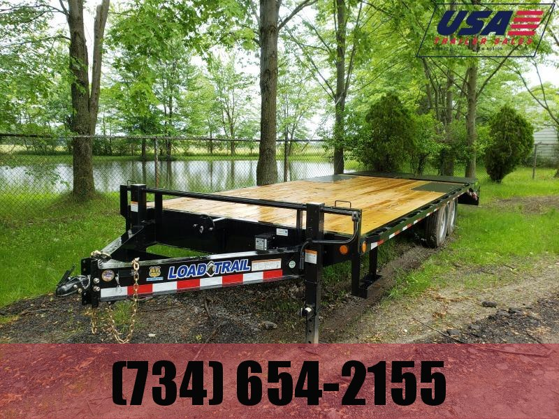 New 24' Load Trail Deck Over 14K W/Max Ramps