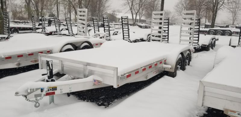 New 18' H&H  10K Aluminum Equipment Trailer On Sale And Priced To Move