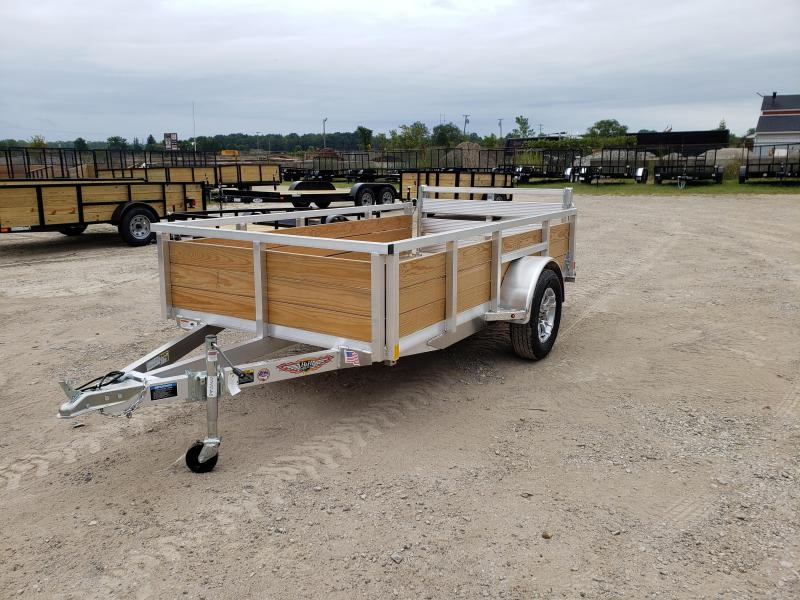New 5.5x10 Aluminum Wood Side Landscape Trailer By H&H
