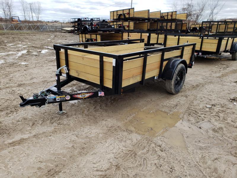 NEW 5X10 STEEL WOOD SIDE LANDSCAPE TRAILER