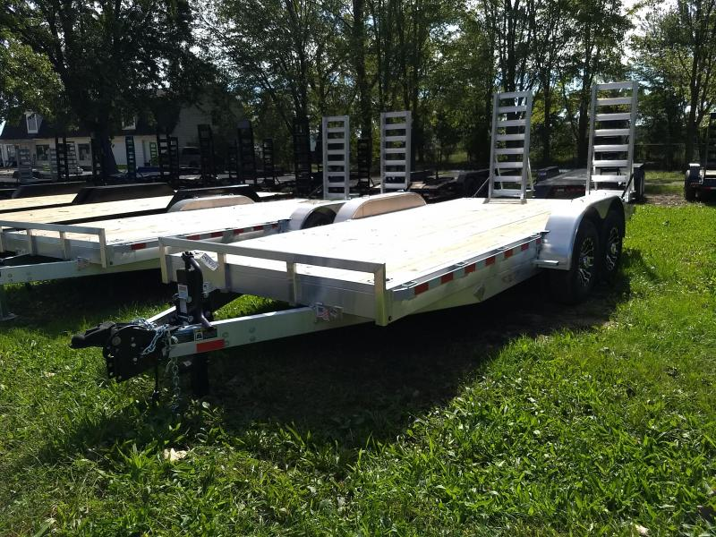New 18' 14K H&H Aluminum Equipment Trailer Get Your Today.