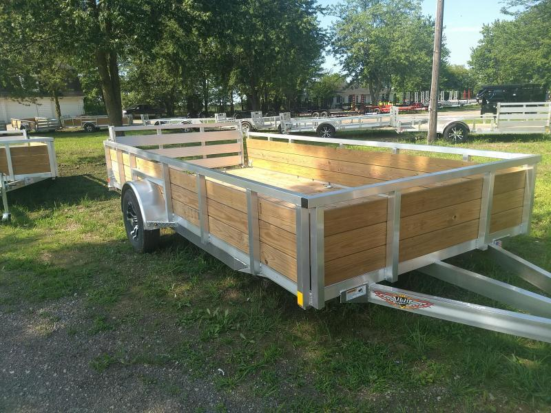 New 82x14 Aluminum Wood Side Landscape Trailer By H&H