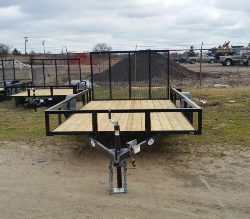 New 6.4x10 Short Side Landscape Utility Trailer
