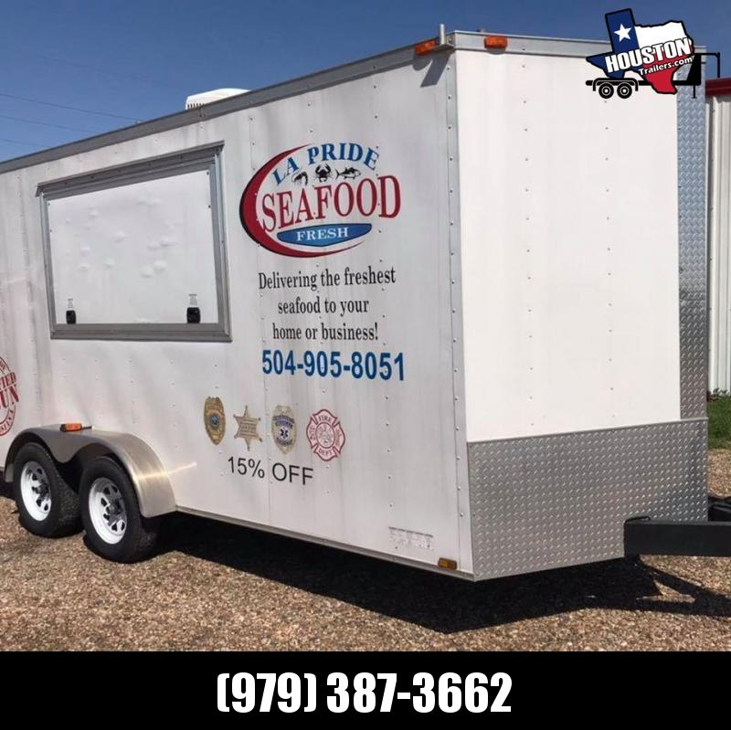 2015 Diamond Cargo 16'x7' Concession Trailer 7k Vending / Concession Trailer